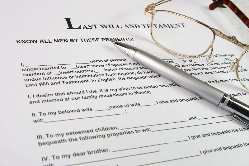 The basics of writing a will